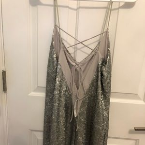 Kendall and Kylie Silver sequin dress!